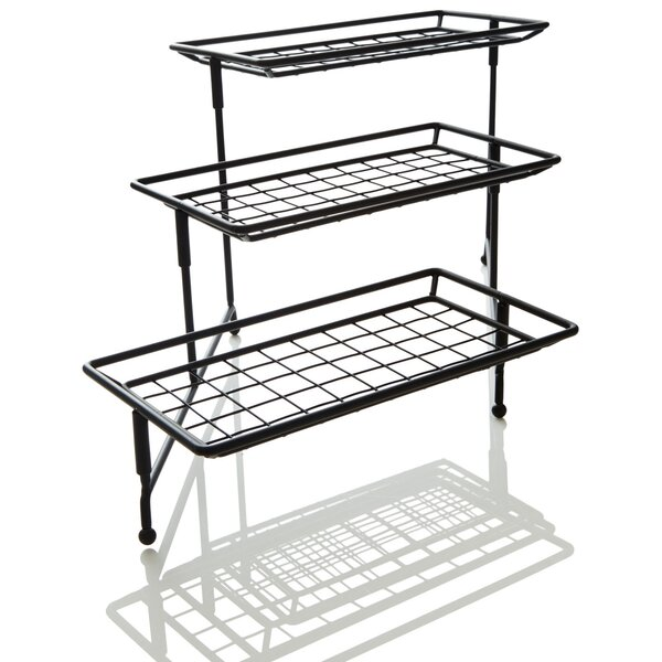 IEnjoyware 3-Tiered Metal Rack Serving Platters by