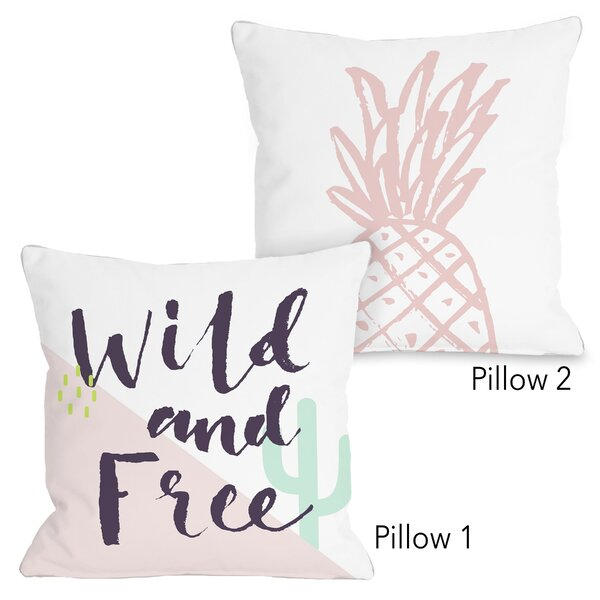 Eileen Wild and Free and Pine 2 Piece Throw Pillow Set by Ebern Designs