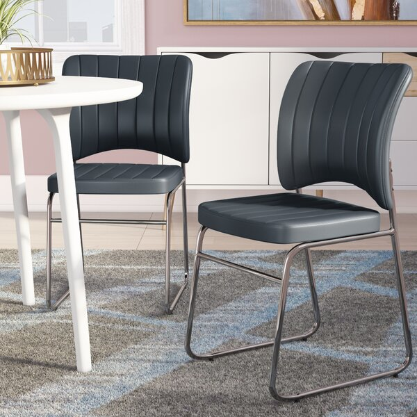 Komm Upholstered Dining Chair (Set of 2) by Orren Ellis