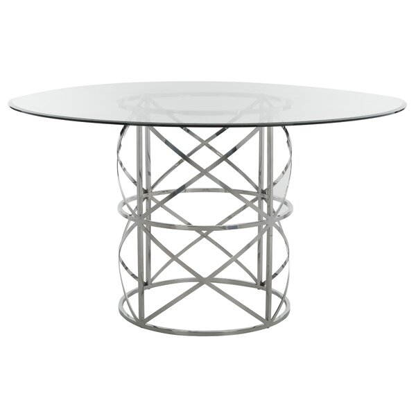Petrella Glass Top Dining Table by Orren Ellis