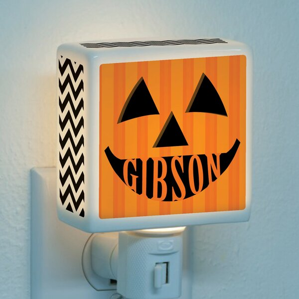 Pumpkin Face Personalized Night Light by CPS