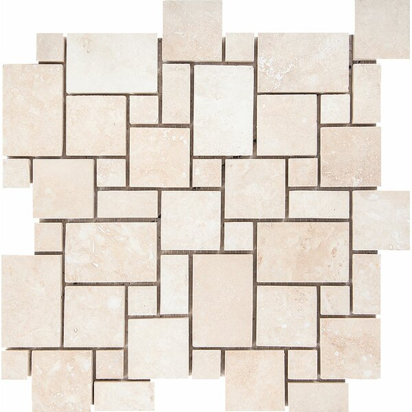 Mini Versailles Random Sized Stone Mosaic Tile in Ivory by Parvatile