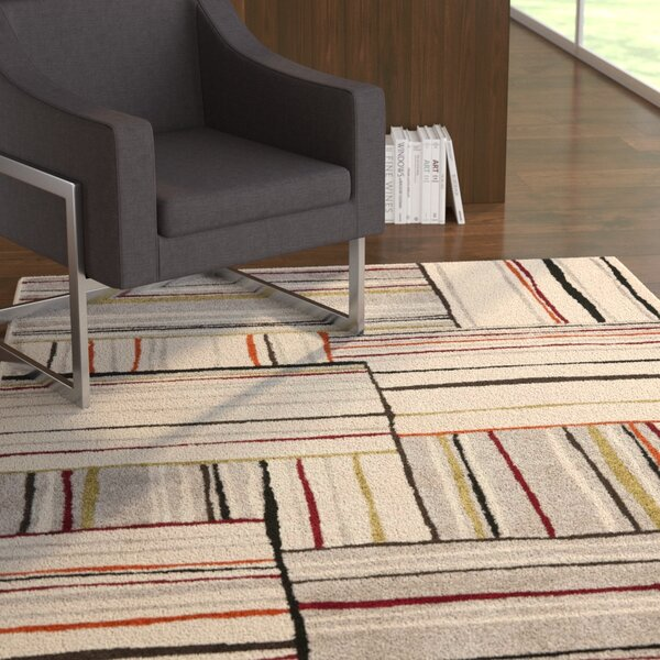 Mclaughlin Beige/Red Area Rug by Latitude Run