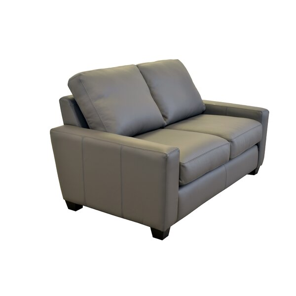 Hanson Leather Loveseat By Westland And Birch