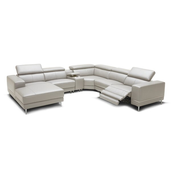 Ringgold Leather Reclining Sectional by Orren Ellis