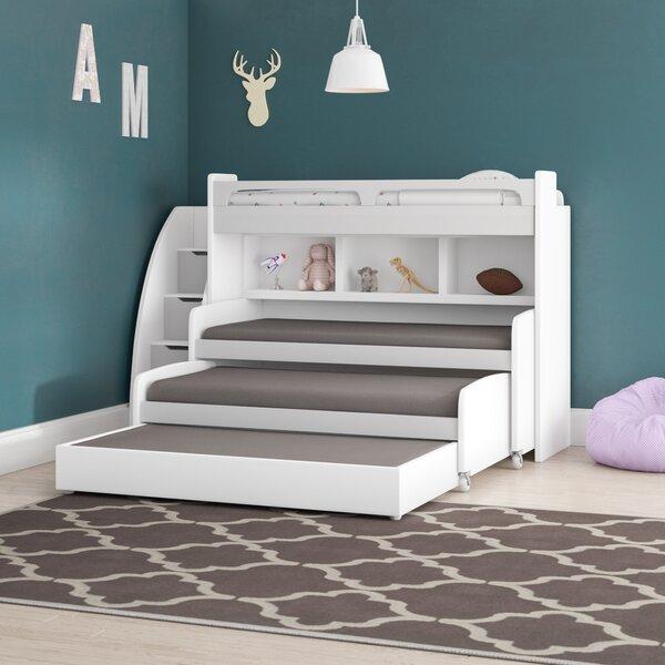 Gautreau Twin Triple Bunk Bed with Trundle [Brayden Studio]