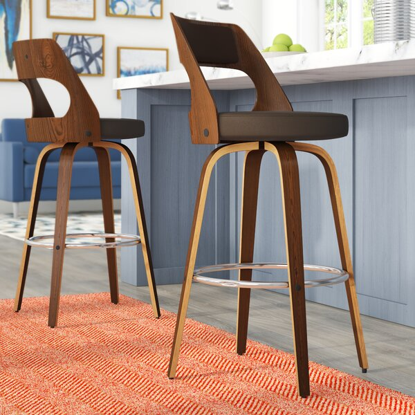 Adelyn Swivel Bar & Counter Stool (Set of 2) by Wade Logan