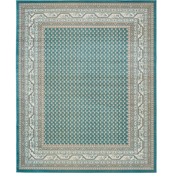 Gillam Teal Area Rug by Three Posts