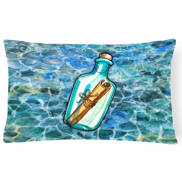 Clayville Message in a Bottle Lumbar Pillow by Latitude Run
