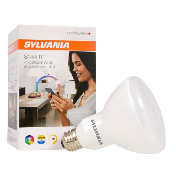 11 Watt (65 Watt Equivalent), BR30 LED Smart Light Bulb, Full Color E26/Medium (Standard) Base by Sylvania SMART+