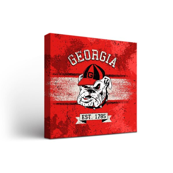 NCAA Georgia Bulldogs Banner Framed Graphic Art on Wrapped Canvas by Victory Tailgate