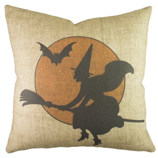 Witch with Moon Throw Pillow by TheWatsonShop