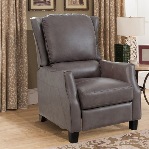 Surles Leather Manual Recliner by Red Barrel Studio
