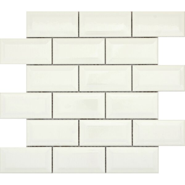 Vogue Bevel 2 x 4 Porcelain Mosaic Tile in Glossy Biscuit by Emser Tile