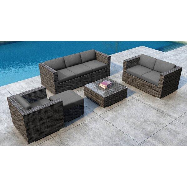 Gilleland 5 Piece Sofa Set with Sunbrella Cushion by Orren Ellis Orren Ellis