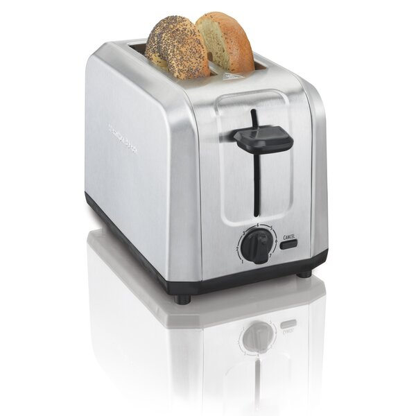 2 Slice Brushed Toaster by Hamilton Beach