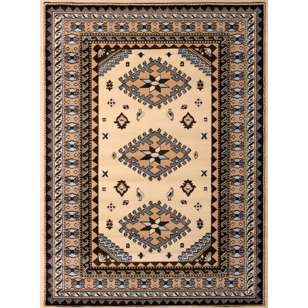 Juana Ivory & Blue Area Rug by Loon Peak
