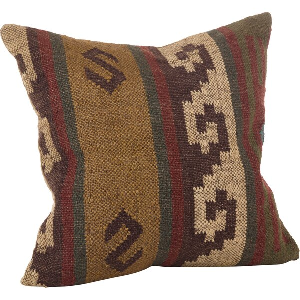 Kilim Wool Throw Pillow by Loon Peak