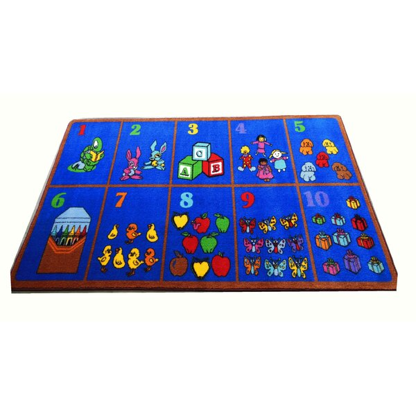 Count on Me Blue Area Rug by Kids World Carpets