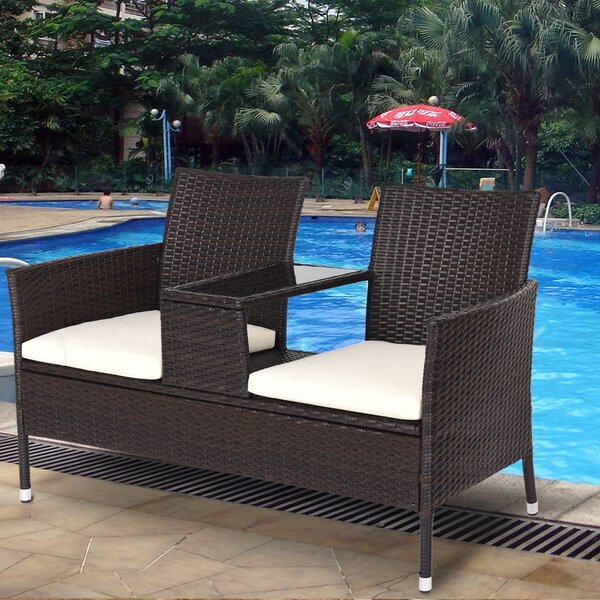 Guang Patio 3 Piece Rattan Seating Group with Cushions by Latitude Run
