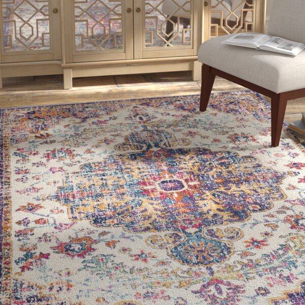 Hillsby Gold/Purple Area Rug by Mistana