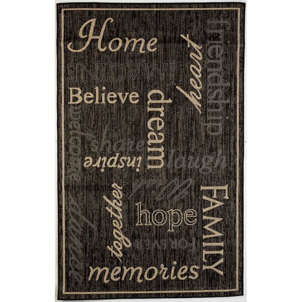 Sparkman Home Family Indoor/Outdoor Black Rug