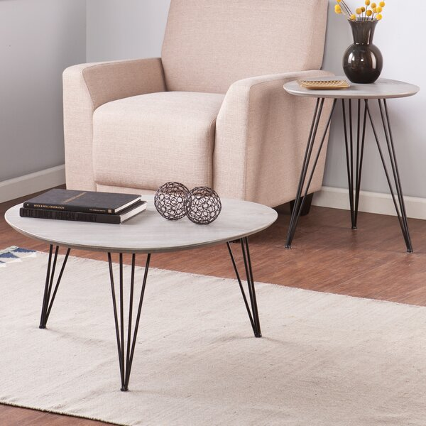 Alena 2 Piece Coffee Table Set by Wrought Studio