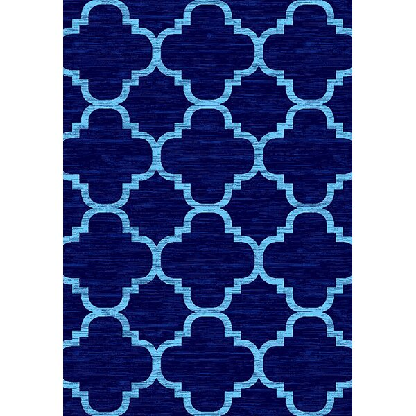 Mccampbell 3D Navy/Blue Area Rug by Ivy Bronx