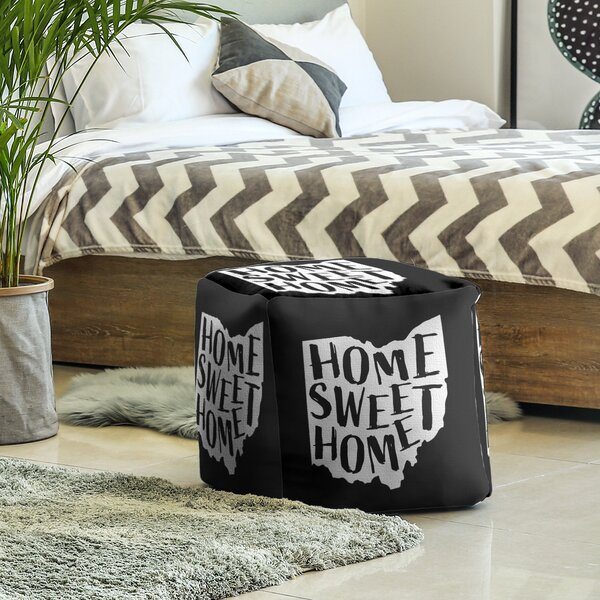 Home Sweet Ohio Cube Ottoman By East Urban Home