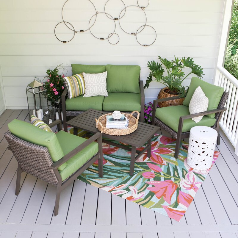 Preston 4 Piece Sofa Set With Cushions