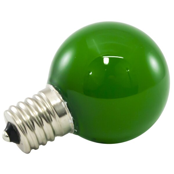 1W Green Frosted E17/Intermediate LED Light Bulb (Set of 200) by American Lighting LLC