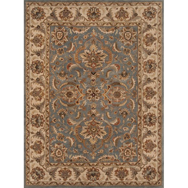 Meadow View Hand-Tufted Wool Blue/Beige Area Rug by Continental Rug Company