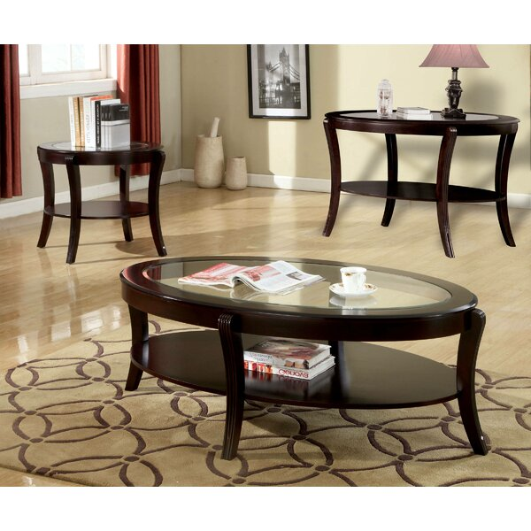 Review Jusino 3 Piece Coffee Table Set