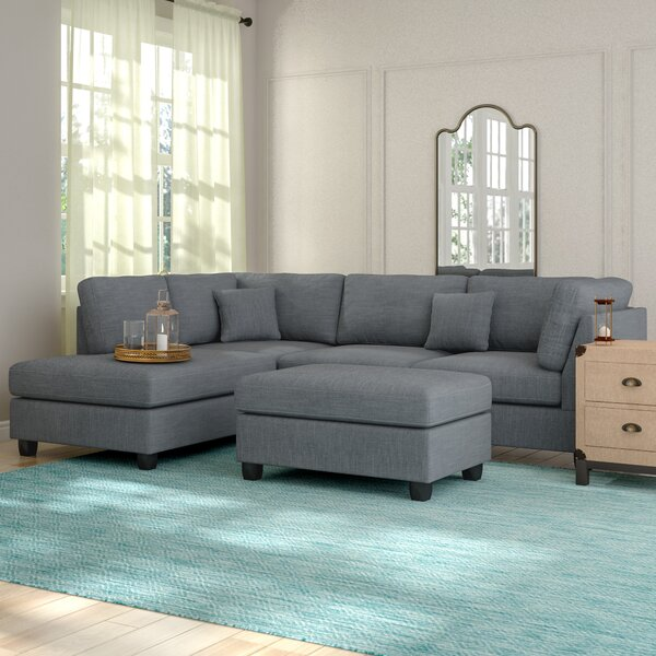 Top Recommend Hemphill Reversible Sectional with Ottoman Get The Deal! 30% Off
