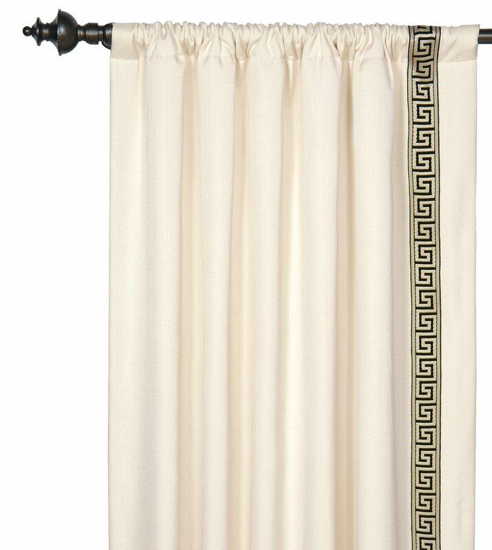 Abernathy Geometric Semi-Sheer Rod Pocket Single Curtain Panel. Shop Drew's Honeymoon House! {Kitchen & Dining Room} #PropertyBrothers