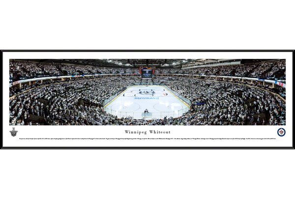 NHL Winnipeg Jets - Whiteout End Zone by Christopher Gjevre Framed Photographic Print by Blakeway Worldwide Panoramas, Inc
