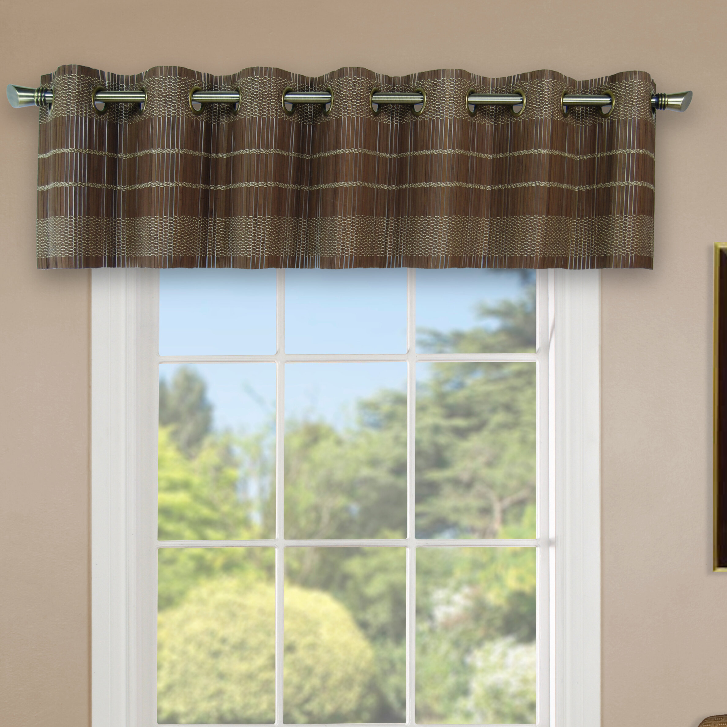 living class gold from sheer valance touch of window pair a embroidey curtains leaf patterned grommet infinity compromise treatments room fresh