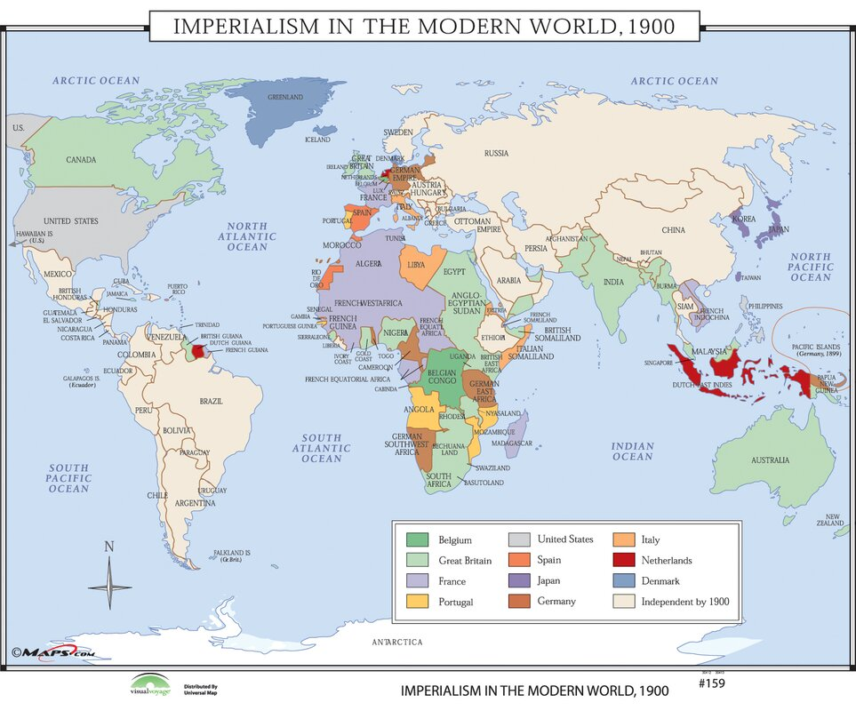 Universal map world history wall maps imperialism in modern world history wall maps imperialism in modern world gumiabroncs Gallery