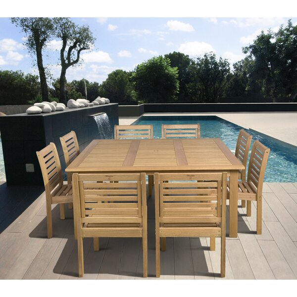 Trumbauer Outdoor 9 Piece Dining Set by Highland Dunes
