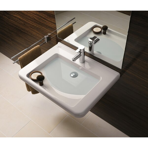 Renova Ceramic 22 Wall Mount Bathroom Sink with Overflow by Bissonnet