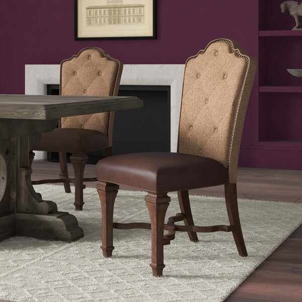 Encinal Upholstered Dining Chair (Set of 2) by Greyleigh