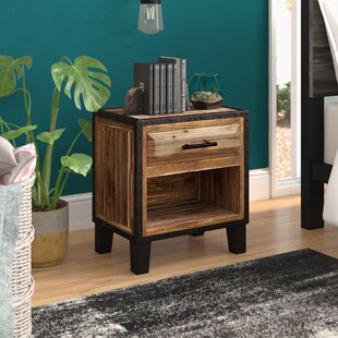 Harrah's 1 Drawer Acacia Wood Nightstand by Trent Austin Design