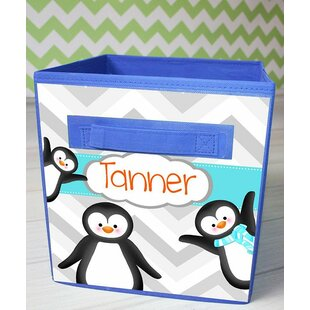 Affordable Price Penguins Personalized Fabric Bin By Toad and Lily