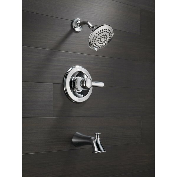 Lahara Tub and Shower Faucet Trim with Lever Handles and Monitor by Delta