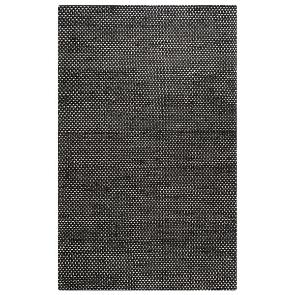 Allegan Hand-Loomed Black Area Rug by Wrought Studio