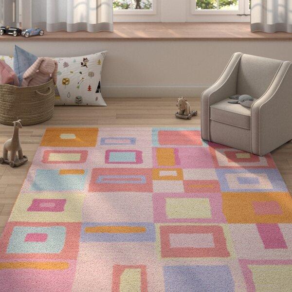 Claro Geometric Pink Area Rug by Harriet Bee