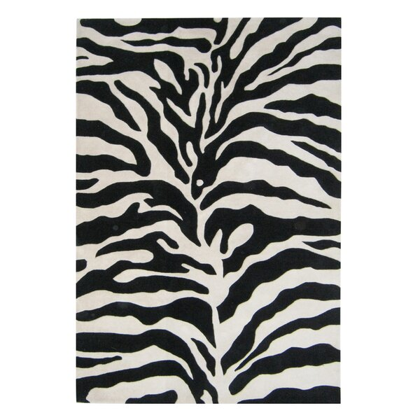 Alliyah Handmade White/Black Area Rug by Bridget Moynahan: Curator for a cause