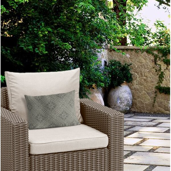 Henley Geometric Tile Outdoor Lumbar Pillow by Ivy Bronx