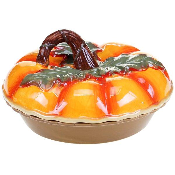 Botanical Harvest 3-D Pumpkin Pie Carrier by Certified International