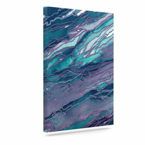 'Agate Magic - Lilac Teal' Print on Canvas by East Urban Home